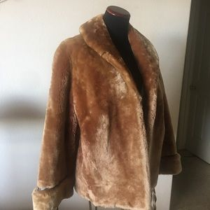Jackets & Blazers - Mouton fur jacket , mint condition, w/side pockets
